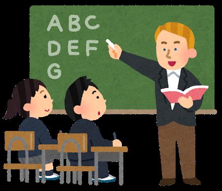 英語を教える白人先生